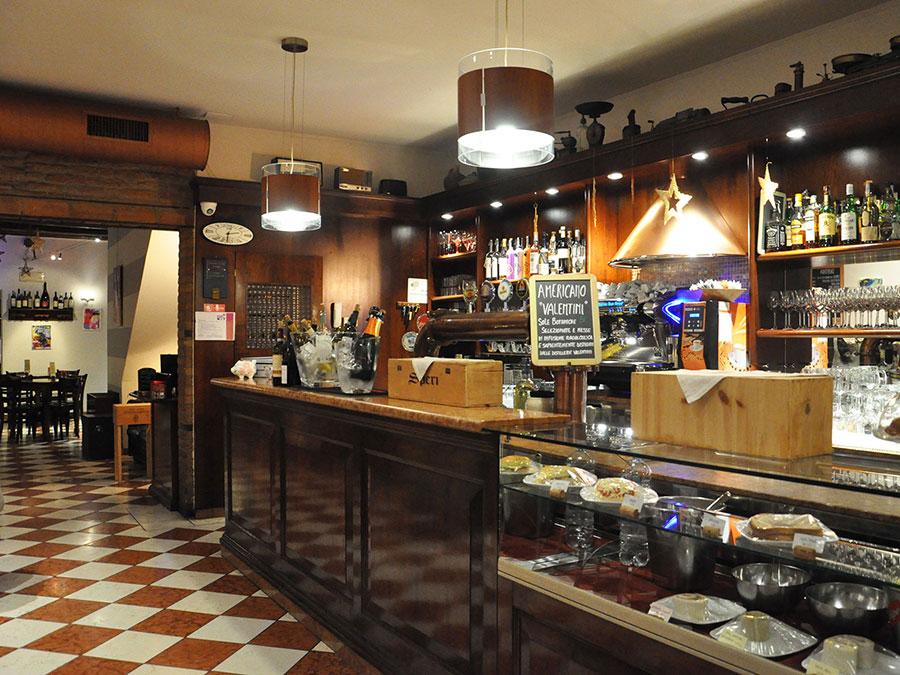 Interno Osteria Due Draghi a Montagnana